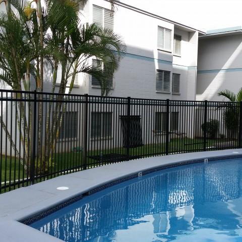 Black Ornamental Pool Fence