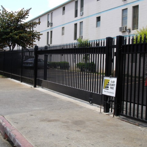 Black Ornamental Security Slide Gate