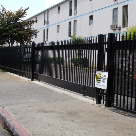 Black Ornamental Security Slide Gate