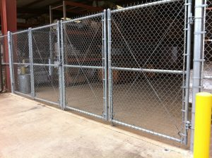 Chain Link Double Swing Bi Fold Gate Allied Security Fence