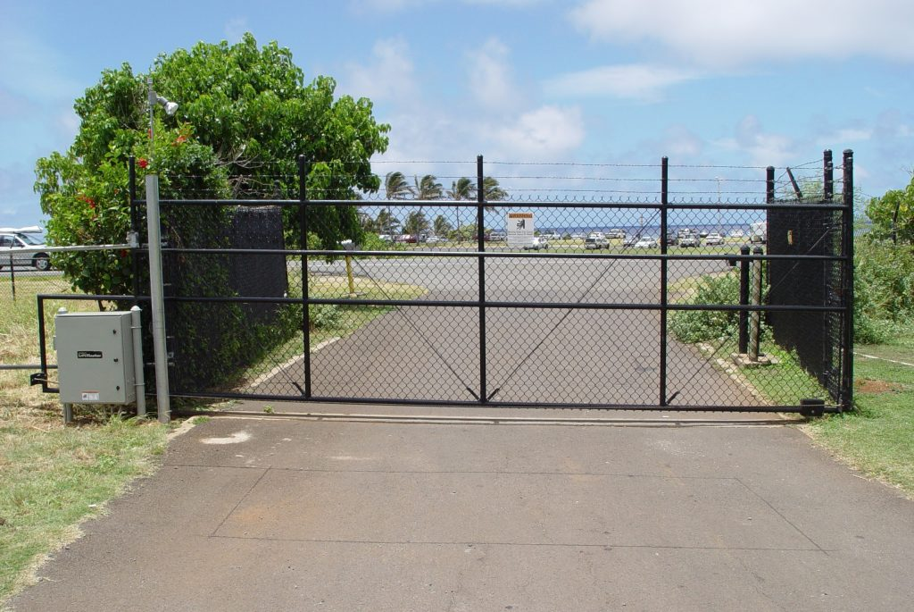 Chain Link Slide Gate Driveway 3 Allied Security Fence