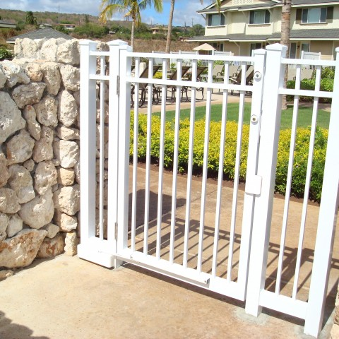 White Entry Gate
