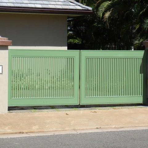 Green Ornamental Driveway Gate