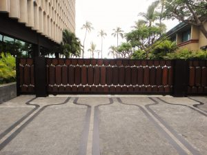 Hawaii Wood Slide Gate Custom