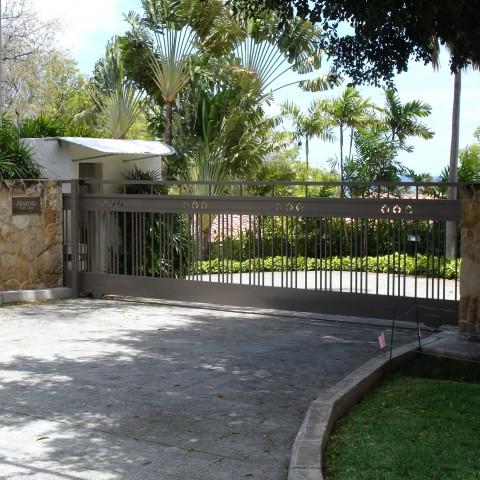 Ornamental Slide Gate Driveway