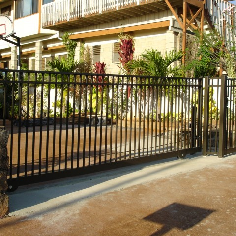 Ornamental Slide Gate Flat Top
