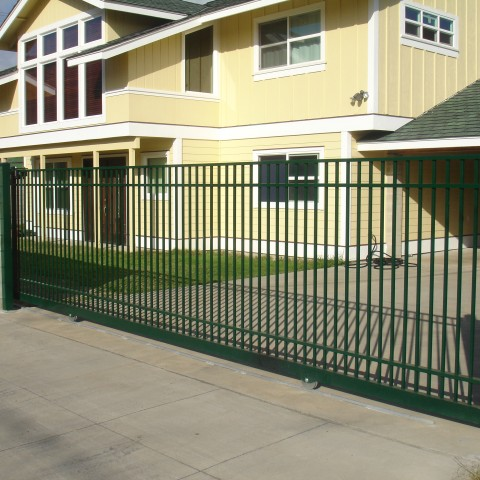 Ornamental Slide Gate Green