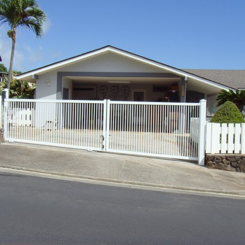 Ornamental Slide Swing Driveway Gate