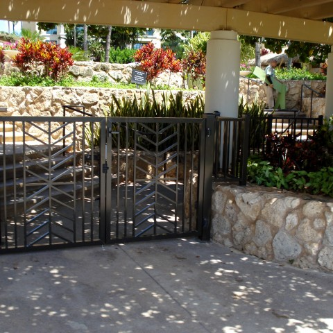 Ornamental Swing Entry Gate