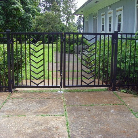 Ornamental Entry Gate Chevron