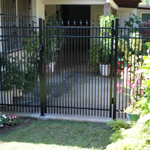 Black Ornamental Pedestrian Swing Gate