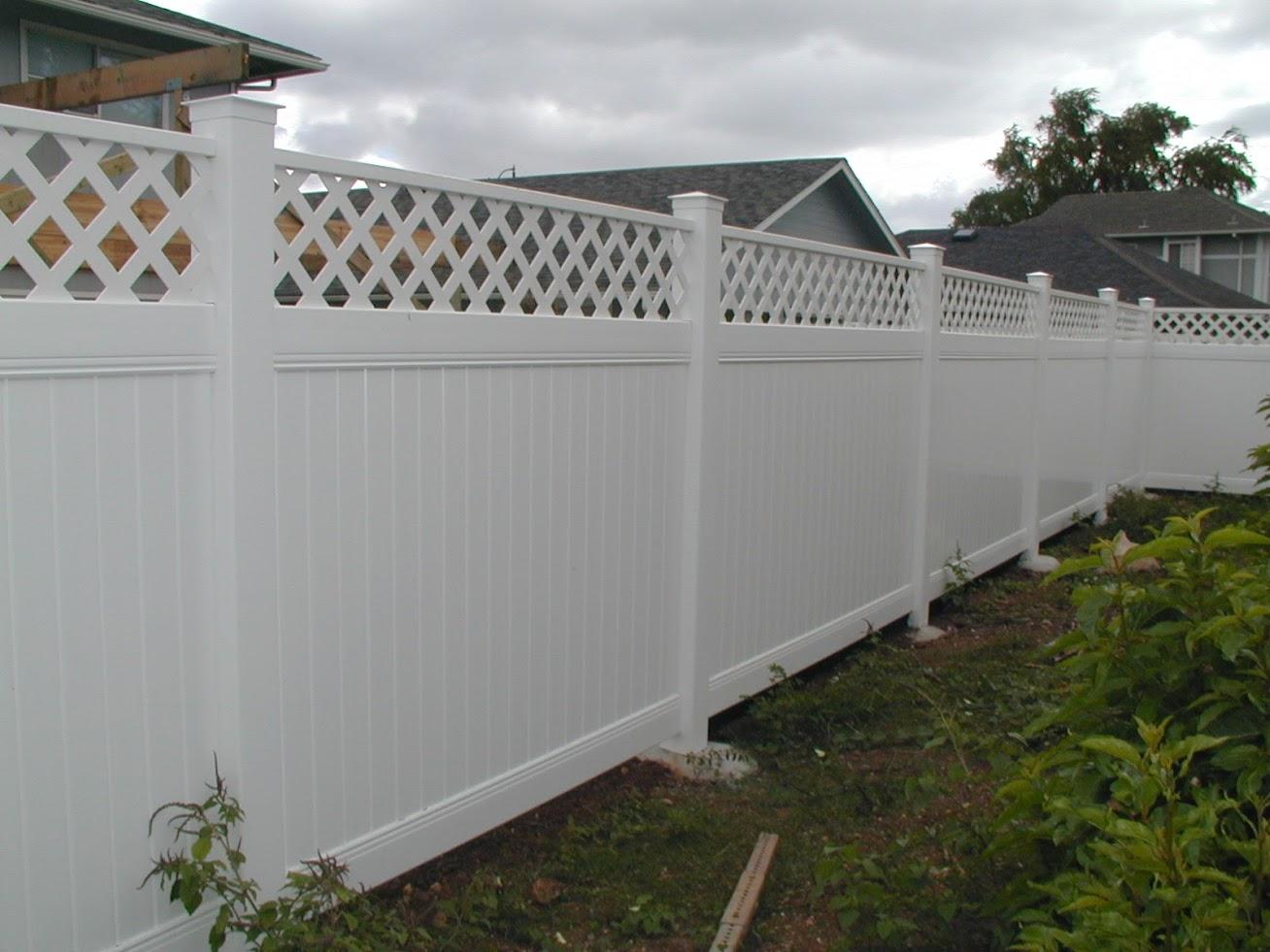 Vinyl Styled Fence