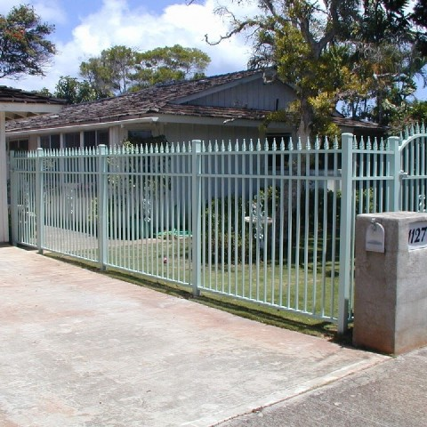 Spear Top Pedestrian Entry Gate