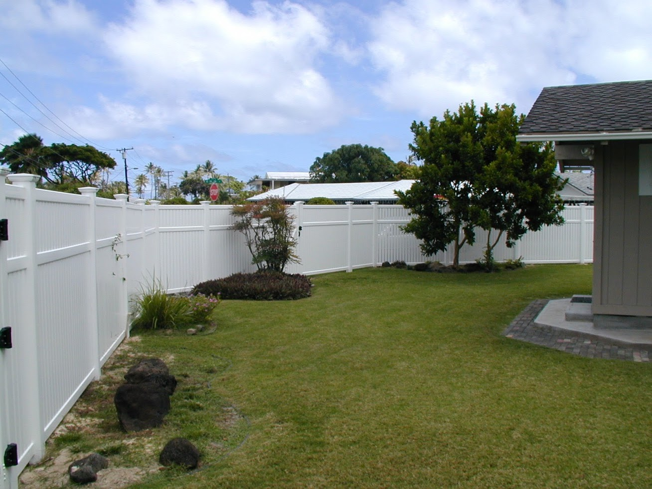 White Vinyl Privacy Fences