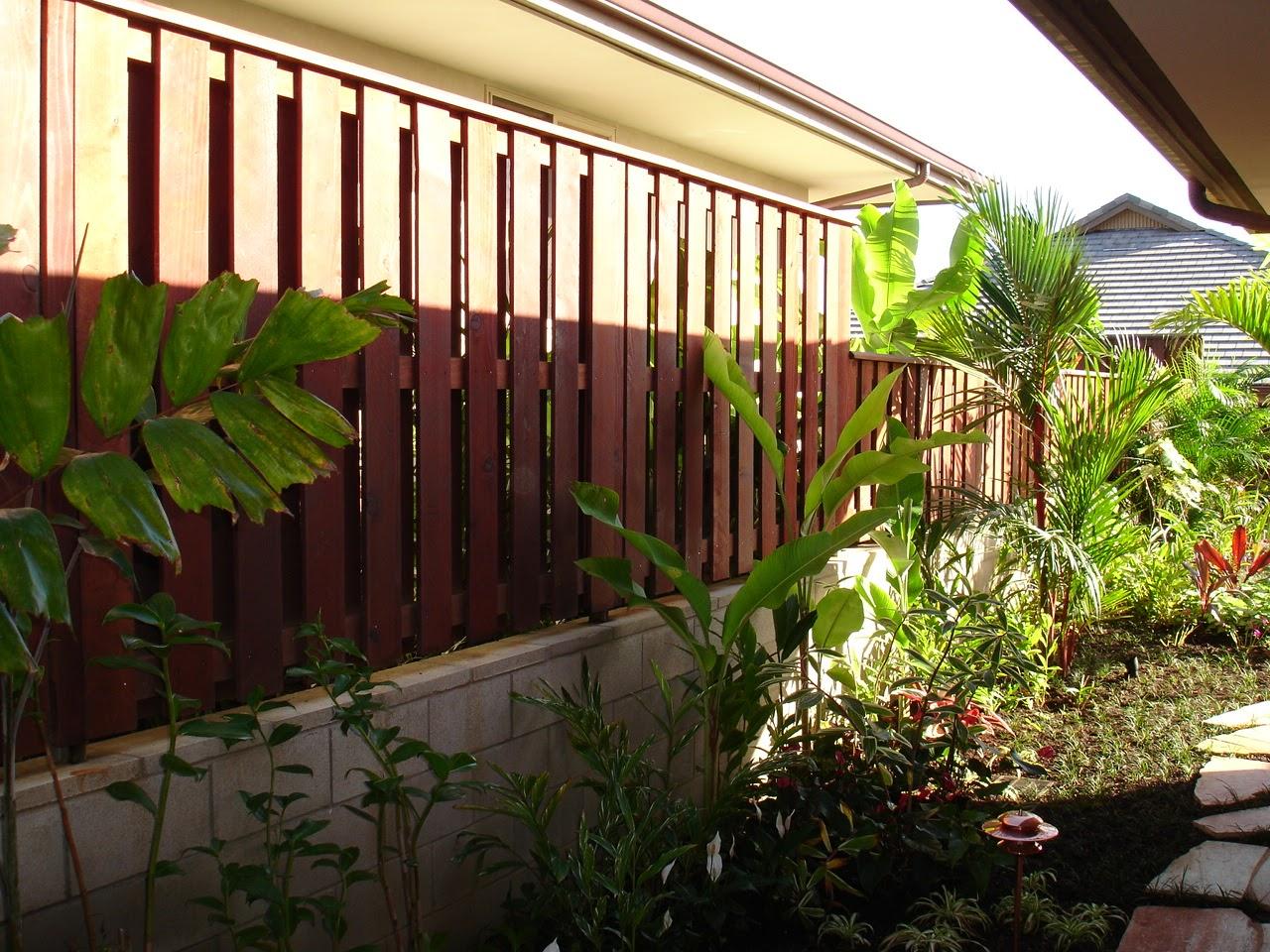 Wood Slat Fence