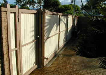 Brown Vinyl Gate