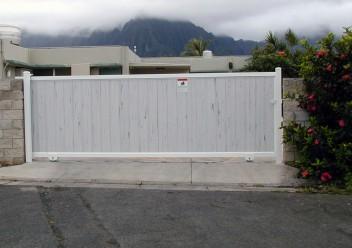 Grey Vinyl Gate