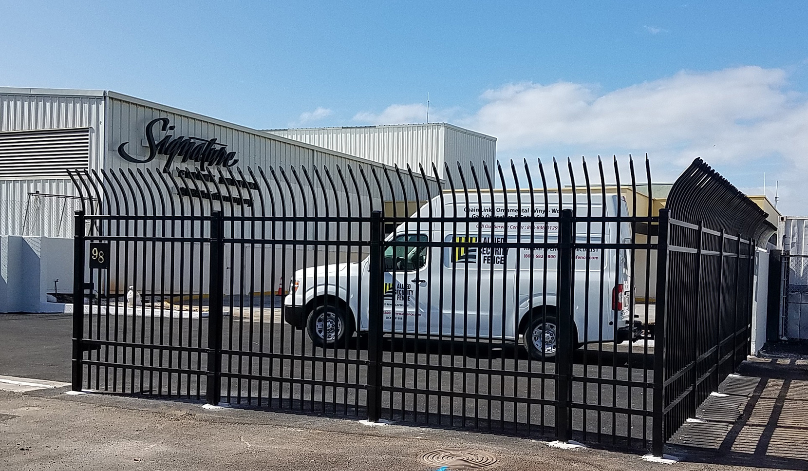 Security fencing gate operator allied fence